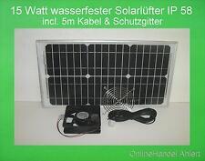 5 Watt 12 Volt Solarlüfter mit Schalter Solar Lüfter Ventilator Solarventilator