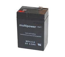Multipower 6V / 4.5Ah Blei-Akku MP4.5-6