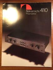 NAKAMICHI 410 PREAMPLIFIER ORIGINAL BROCHURE P293
