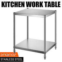 "24"" x 24"" Stainless Steel Kitchen Work Table Commercial Kitchen Restaurant table"