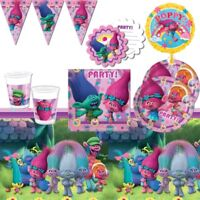Trolls Party Supplies Tableware, Decorations, Balloons, Invites, Party Bags