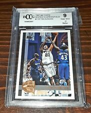 1997-98 Topps Minted in Springfield #115 TIM DUNCAN Rookie RC Mint 9! PSA?🔥🐐📈