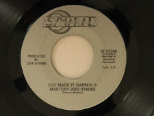 Martony & Symms 45  YOU MADE IT HAPPEN / MY DEVIL WOMAN ~ VG  country rock