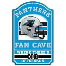 CAROLINA PANTHERS ~ Official NFL 11x17 No Offseason Fan Cave Wood Sign ~ New!