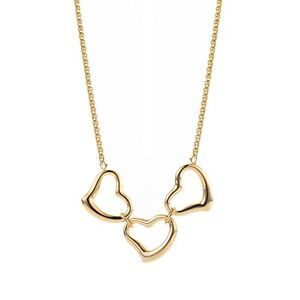 Clearance 9ct Yellow Gold 3.3gr Open Triple Heart Necklace Hallmark RRP£337