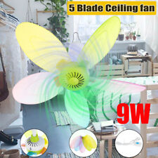 9W Remote Control Portable 5 Blades Mini Ceiling Fan Hanging Summer Cooler gift