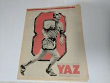 VINTAGE 1983 THE BOSTON GLOBE TRIBUTE TO YAZ RED SOX CARL YASTRZEMSKI NEWSPAPER