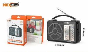 Radio Portatile AM FM TV SW1-2 Ricevitore 4 Bande Audio Radiolina Batterie e AC