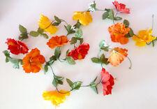 Hibiskusgirlande ca. 250 cm  gelb/rot/orange Girlande