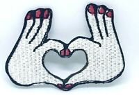 Heart Hand Romantic Iron/Sew On Embriodered Patch 1292