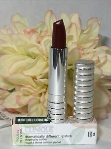 Clinique Dramatically Different Lipstick # 13 Black Violet Full Size New In Box