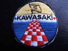 KAWASAKI ECUSSON TISSE POUR BLOUSON / PATCH TISSE ANCIEN / ANNEES 80