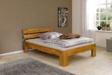 Futon französisches Bett 140x200 Doppelbett Eiche massiv geölt Rollrost 60.85-14