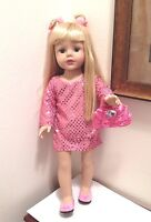"""New Sophia Doll Clothes Pink Sequin Tunic Outfit Fits18"""" American Girl Type Doll"""