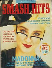 MADONNA UK Smash Hits Magazine 7/29/87  WET WET WET BEASTIE BOYS PINUP PC