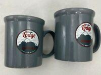 Design Pac Set of 2 Ski Lodge Mountain Resort 16 oz Gray Coffee Mug Tea Cup