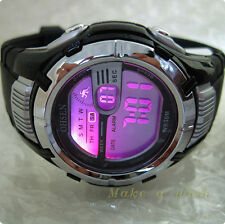 OHSEN Black Case 7color LED Digital Sport Men Boy Quartz Sport Watch Fasion