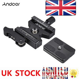 """Andoer Tripod Quick Release Clamp Plate Lever Knob Type 1/4""""&3/8"""" For Arca Swiss"""