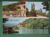 AK Bad Kösen Rudelsburg Schwimmbad Dampferanlege ältere Ansichtskarte ungelaufen