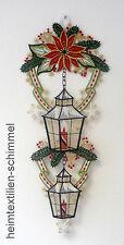 PLAUENER SPITZE ® Fensterbild WINTER Weihnachten LATERNE Weihnachtsstern KERZE