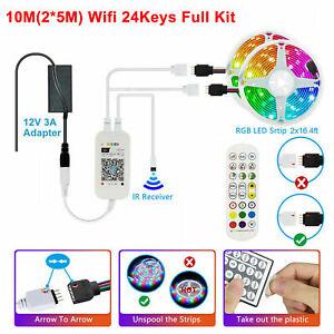 10M LED Strip Lights Smart WiFi Alexa APP Control RGB Colour Changing Music Sync