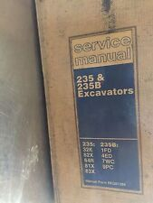 CAT Caterpillar 235 & 235B Excavators Service Repair Manual Operator