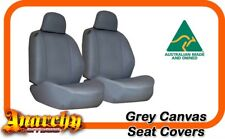 Rear Grey Canvas Seat Covers for Triton ML-MN Dual Cab 2 H/Rest 06~13