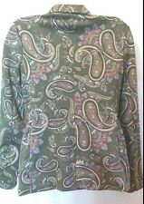 MING BY MANGO PAISLEY PRINT BLAZER ARMY GREEN SIZE M MADE IN MOROCCO
