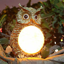 Solar Powered Owl Lights Garden Led Statue Outdoor Pathway Home Lawn Yard Lamps