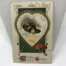 Vintage 1912 Valentines Day Postcard Greeting ( Writing On Back )