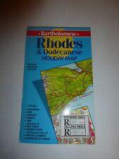 Rhodes and Dodecanese (Bartholomew Holiday Map), Bartholomew 070282139X B19