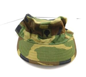 """Bro Industries Camouflage Hunting Ear Flaps Hat Cap Fitted 7 1/4"""" Green Brown"""