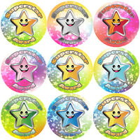 144 Superstar Award 30mm Children's Reward Stickers for Teachers and Parents