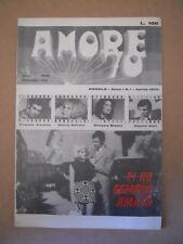 AMORE '70 Fotoromanzo Anni 70 n°1 1970 Franco Alcamo Silvana Manni  [G581]