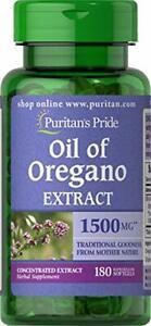 Puritan's Pride Oil of Oregano Extract 1500 mg, Oregano Oil Pills with Antioxida
