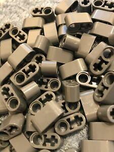 LEGO 10 x Technic Liftarm 1 x 2 Thick with Pin Hole & Axle Hole Dark GREY