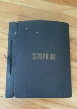 VINTAGE 1940'S SCRAPBOOK 88 PAGES ,MILITARY,CARDS,LETTERS,STAMPS,POST CARDS