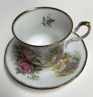 Rosina China Co. Queens Bone China Special Flowers Cup and Saucer