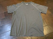 Under Armour Heat Gear Gray Loose Athletic Workout Running Shirt - Size Medium