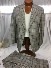 "* Towncraft * Disco 70's Plaid ""Used Car Salesman"" Suit 40R"