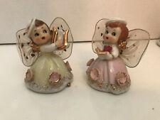 """2 Vintage 3"""" Angels w/Nylon Wings"""