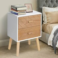 Nordic Style 2 Drawers Side Cabinet, Bedside Table Cabinet Nightstand