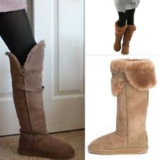 EMU Illoura Australian Sheepskin Suede Boots Camel Brown Womens Shoes Size 8