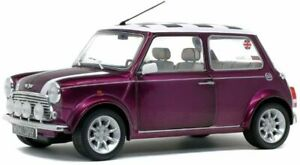 MINI COOPER SPORT diecast model car purple metallic 1997 1:18th SOLIDO 1800606