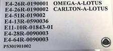 Lotus Carlton/Omega Slam Panel Adhesivo (con el logotipo de Lotus)