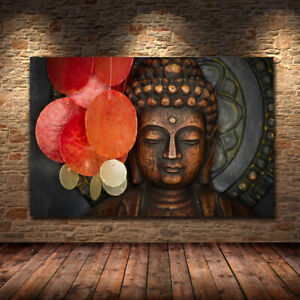 Buddha Statue Canvas Wall Decoration Art Prints Poster Home Living Room Painting