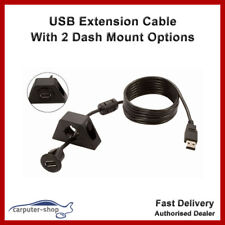 Car Audio USB Extension Cable with two dash mounting options