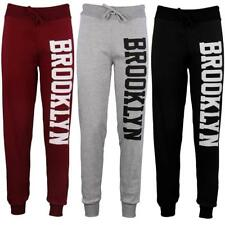 New Ladies Brooklyn Side Print Bottoms Joggers Tracksuit Ladies Jogging Trousers