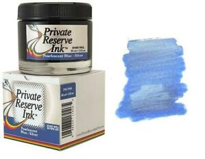 Private Reserve Pearlescent Fountain Pen Ink Bottle, Blue & Silver Shimmer