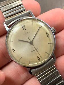 Killer Vintage Original Timex Marlin Men's Watch Good Condition Working!! NR